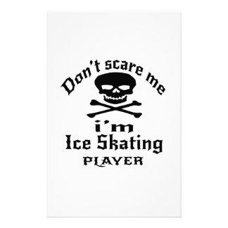 Ne m'effrayez pas que je suis joueur de patinage motifs pour papier à lettre