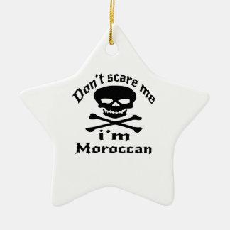 Ne m'effrayez pas que je suis marocain ornement étoile en céramique
