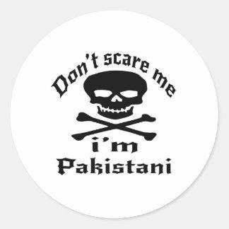 Ne m'effrayez pas que je suis pakistanais sticker rond
