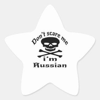 Ne m'effrayez pas que je suis russe sticker étoile
