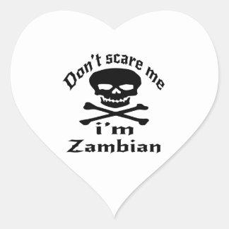 Ne m'effrayez pas que je suis zambien sticker cœur