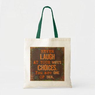 Ne riez jamais du sac fourre-tout drôle aux choix