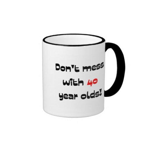 Ne salissez pas avec 40 ans tasses à café