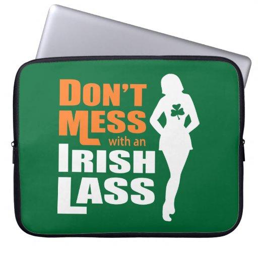 Ne salissez pas avec une jeune fille irlandaise -  housses pour ordinateur portable