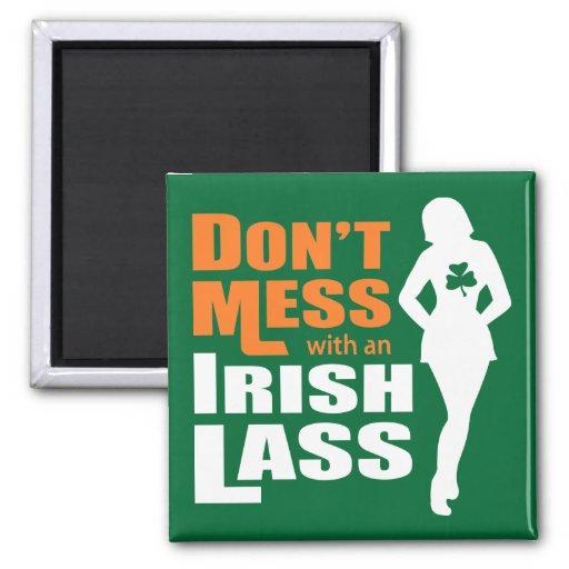 Ne salissez pas avec une jeune fille irlandaise -  magnets pour réfrigérateur