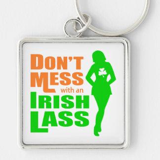 Ne salissez pas avec une jeune fille irlandaise -  porte-clefs