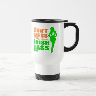 Ne salissez pas avec une jeune fille irlandaise tasse