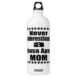 Ne sous-estimez jamais la maman de Lhasa Apso Bouteille D'eau En Aluminium