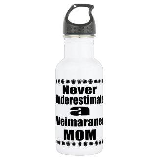 Ne sous-estimez jamais la maman de Weimaraner Bouteille D'eau En Acier Inoxydable