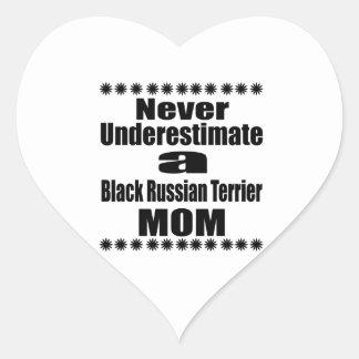 Ne sous-estimez jamais la maman noire de Terrier Sticker Cœur