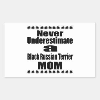 Ne sous-estimez jamais la maman noire de Terrier Sticker Rectangulaire