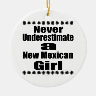 Ne sous-estimez jamais la nouvelle amie mexicaine ornement rond en céramique