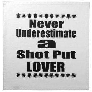 Ne sous-estimez jamais l'amant mis par tir serviettes en tissus