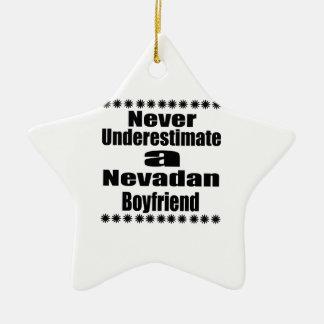 Ne sous-estimez jamais l'ami de Nevadan Ornement Étoile En Céramique