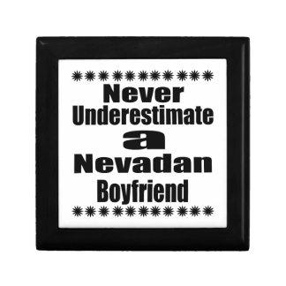 Ne sous-estimez jamais l'ami de Nevadan Petite Boîte À Bijoux Carrée
