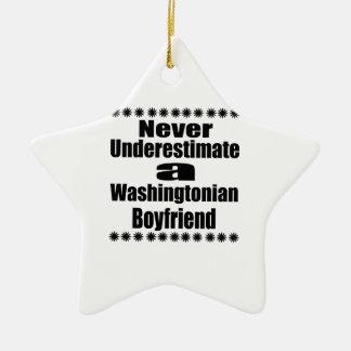 Ne sous-estimez jamais l'ami de Washingtonian Ornement Étoile En Céramique