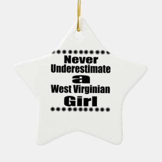 Ne sous-estimez jamais l'amie de Virginian Ornement Étoile En Céramique