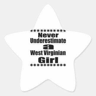 Ne sous-estimez jamais l'amie de Virginian Sticker Étoile