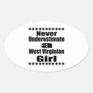 Ne sous-estimez jamais l'amie de Virginian Sticker Ovale