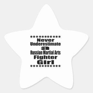 Ne sous-estimez jamais le combattant russe d'arts sticker étoile