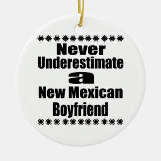 Ne sous-estimez jamais le nouvel ami mexicain ornement rond en céramique