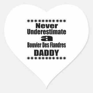 Ne sous-estimez jamais le papa de DES Flandres de Sticker Cœur