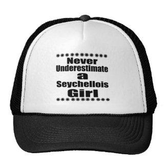 Ne sous-estimez jamais une amie seychelloise casquette de camionneur