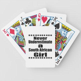 Ne sous-estimez jamais une amie sud-africaine cartes à jouer