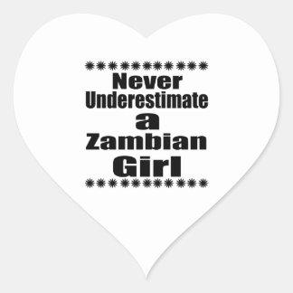 Ne sous-estimez jamais une amie zambienne sticker cœur