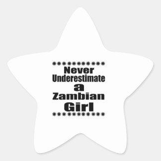 Ne sous-estimez jamais une amie zambienne sticker étoile
