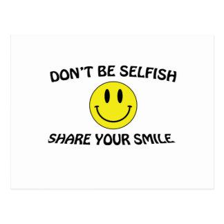 ne soyez pas égoïste carte postale