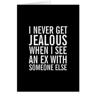 Ne soyez pas jaloux au-dessus de votre carte de