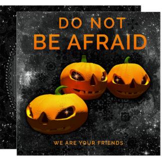 """""""Ne soyez pas"""" partie effrayée de Halloween de Carton D'invitation 13,33 Cm"""