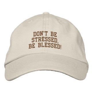 Ne soyez pas soumis à une contrainte, soit béni ! casquette brodée