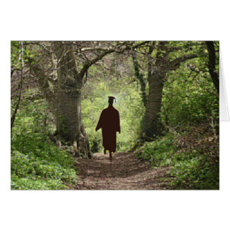 Ne suivez pas où le chemin peut mener carte de vœux