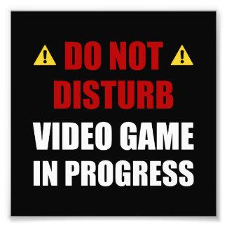 Ne touchez pas au jeu vidéo impression photo