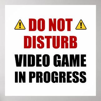 Ne touchez pas au jeu vidéo poster