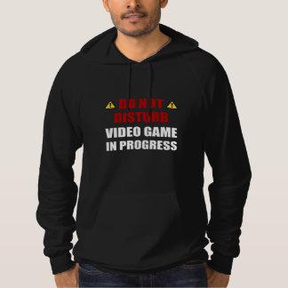 Ne touchez pas au jeu vidéo pull à capuche
