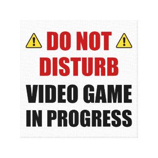 Ne touchez pas au jeu vidéo toile