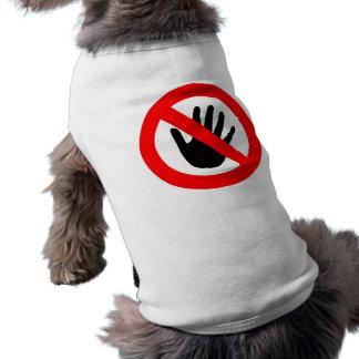 Ne touchez pas t-shirt pour chien