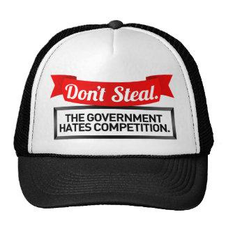 Ne volez pas. Le gouvernement déteste la concurren Casquette De Camionneur