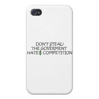 Ne volez pas-le la concurrence de haines de gouver étui iPhone 4/4S