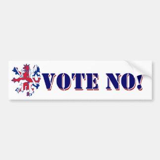Ne votez aucun référendum écossais autocollant pour voiture
