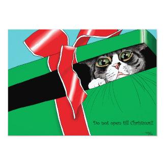 Ne vous ouvrez pas jusqu'à Noël Carton D'invitation 12,7 Cm X 17,78 Cm