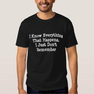 Ne vous rappelez pas t-shirts