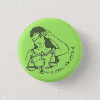 Néanmoins, elle a persisté bouton (vert) badges