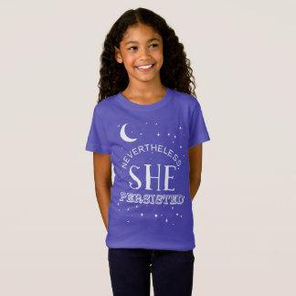 Néanmoins, elle a persisté pièce en t de filles - T-Shirt