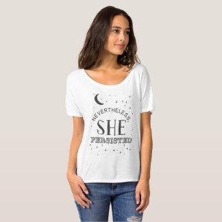 Néanmoins, elle a persisté pièce en t - terriers t-shirt