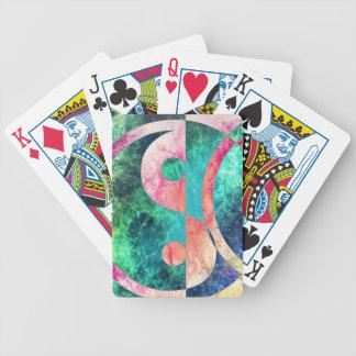 Nébuleuse abstraite de Yin Yang Jeux De Cartes