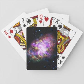Nébuleuse de crabe rose jeu de cartes